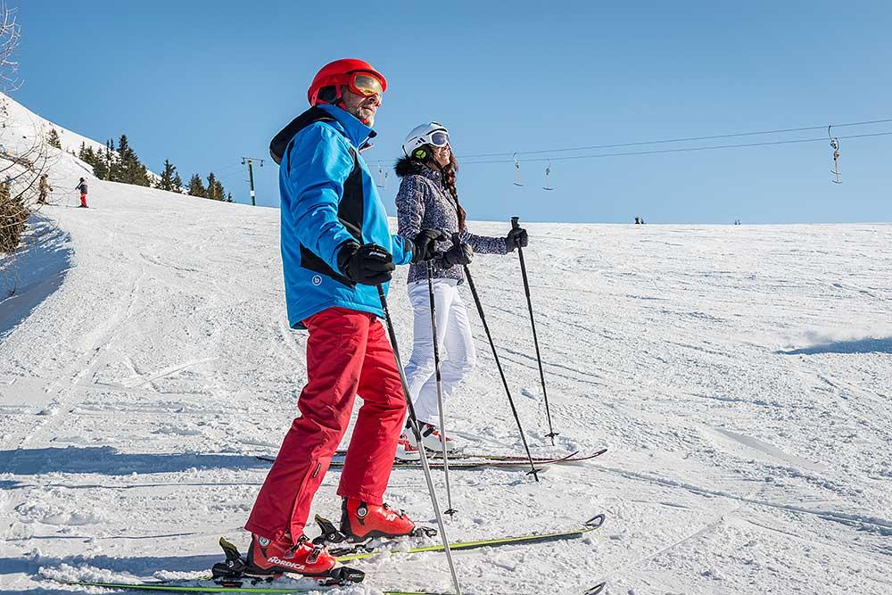 Skiing at the Kellerjoch