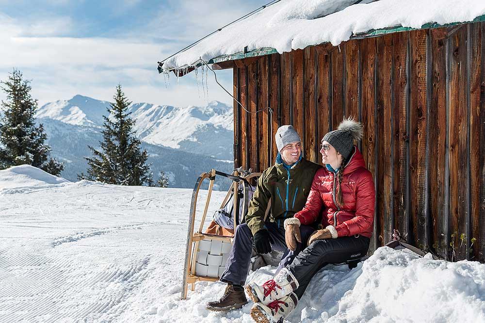 Rodeln am Kellerjoch in Tirol