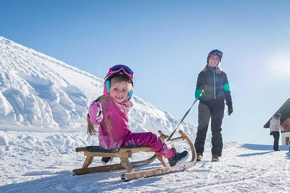 Rodeln mit Kindern in Tirol