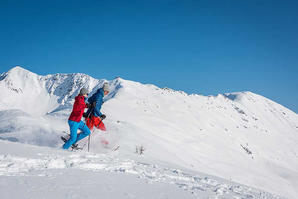 Snowshoe Hiking on the Kellerjoch in Tyrol