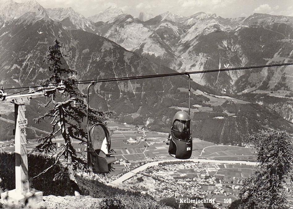 Eiergondeln am Kellerjoch 1959